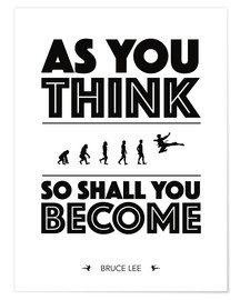 Premium poster As you think - Bruce Lee