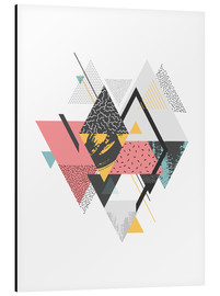 Aluminium print  Colorful Triangles - dear dear