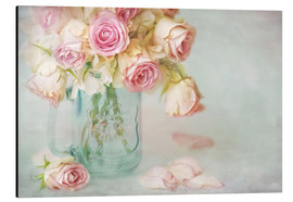 Aluminium print  lovely pink roses - Lizzy Pe