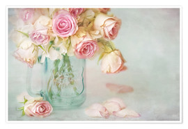 Premium poster  lovely pink roses - Lizzy Pe