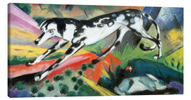 Canvas print  The fear of the rabbit - Franz Marc