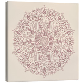 Canvas print  Mandala on beige
