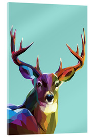 Acrylic print  polygon Hirsch - Kidz Collection