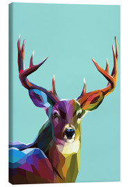 Canvas print  polygon Hirsch - Kidz Collection
