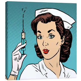 Canvas print  Nurse with syringe