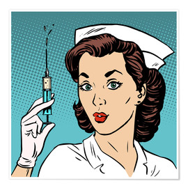 Premium poster Nurse with syringe