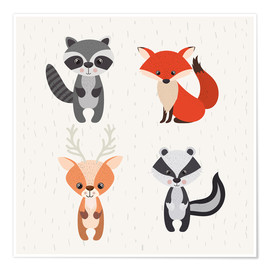 Premium poster Forest animals
