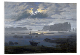 Foam board print  Nordic sea in the moonlight - Caspar David Friedrich