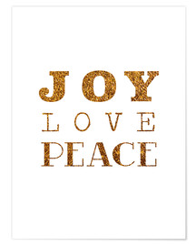 Premium poster Joy, Love, Peace I