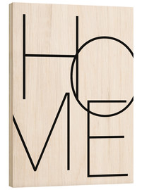Wood print  Home - Finlay and Noa
