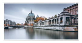 Premium poster Berlin Cathedral in autumn colors