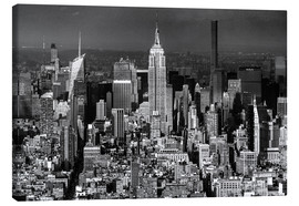 Canvas print  Empire State Building, New York City (monochrome) - Sascha Kilmer