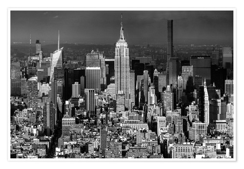 Premium poster Empire State Building, New York City (monochrome)