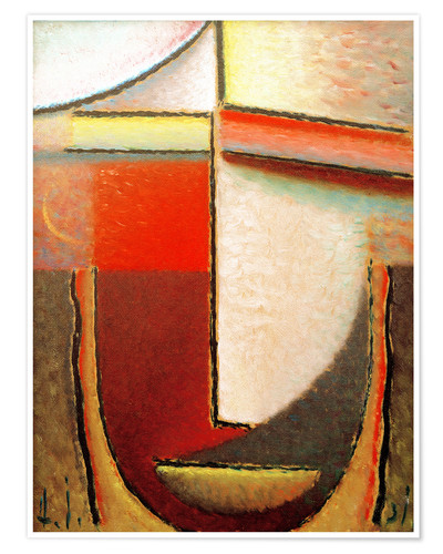Premium poster Abstract Head: Evening
