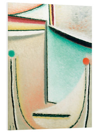 Foam board print  Abstract Head: Pink Light Blue - Alexej von Jawlensky