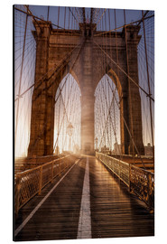 Aluminium print  Brooklyn Bridge NYC - Sören Bartosch