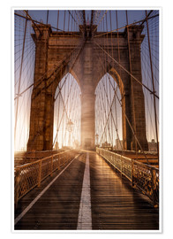 Premium poster  Brooklyn Bridge NYC - Sören Bartosch
