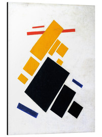 Aluminium print  Suprematische Composition: Airplane Flying - Kasimir Sewerinowitsch  Malewitsch
