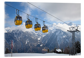 Acrylic print  Cable car in the Alps