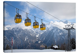 Canvas print  Cable car in the Alps