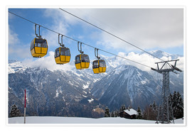 Premium poster  Cable car in the Alps