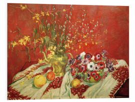 Foam board print  Still life against a red background - Maria Slavona
