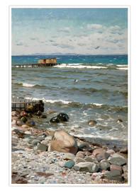 Premium poster  At the beach - Peder Mørk Mønsted