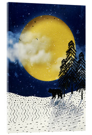 Acrylic glass  winter moon - Sybille Sterk