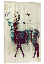 Foam board print  Deer in the Wild - Sybille Sterk