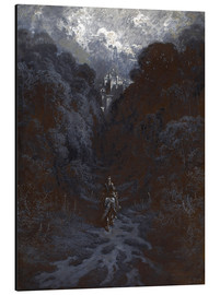 Alu-Dibond  Sir Lancelot Approaching the Castle of Astolat - Gustave Doré