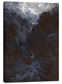 Canvas print  Sir Lancelot Approaching the Castle of Astolat - Gustave Doré
