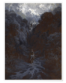 Premium poster  Sir Lancelot Approaching the Castle of Astolat - Gustave Doré