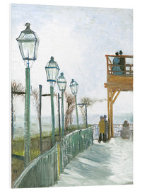 Forex  Terrace and Observation Deck at the Moulin de Blute-Fin, Montmartre - Vincent van Gogh