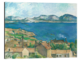 Aluminium print  The Bay of Marseille, Seen from L'Estaque - Paul Cézanne