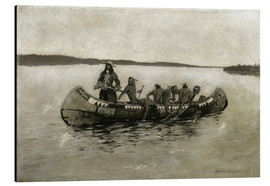 Aluminium print  This Was a Fatal Embarkation - Frederic Remington
