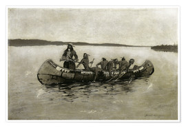 Premium poster  This Was a Fatal Embarkation - Frederic Remington