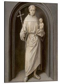 Aluminium print  Saint Anthony of Padua - Hans Memling