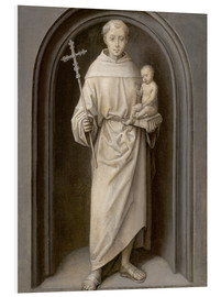 Foam board print  Saint Anthony of Padua - Hans Memling