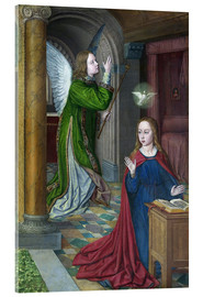 Acrylic print  The Annunciation - Jean Hey