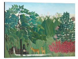 Aluminium print  The waterfall - Henri Rousseau