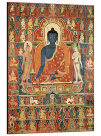Aluminium print  Thangka with the Medicine Buddha - Tibetan School