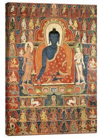 Canvas print  Thangka with the Medicine Buddha - Tibetan School