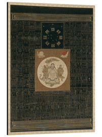 Aluminium print  Zhenwu with the Eight Trigrams, the Northern Dipper, and Talismans, Qing dynasty - Chinese School