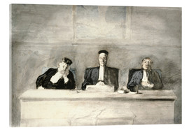 Acrylic print  The Three Judges - Honoré Daumier