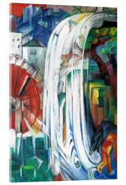 Acrylic glass  The Bewitched Mill - Franz Marc