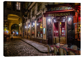 Canvas  Parisian cafe - Jim Nix