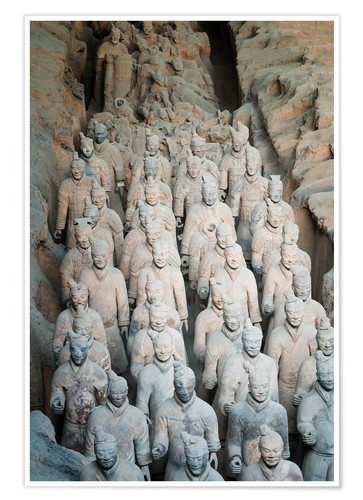 Premium poster Museum of the Terracotta Warriors, Mausoleum of the first Qin Emperor, Xian, Shaanxi Province, China