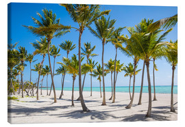 Canvas print  Juanillo Beach, Cap Cana, Punta Cana, Dominican Republic, West Indies, Caribbean, Central America - Jane Sweeney