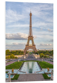 Foam board print  Eiffel Tower and Europe - Roberto Moiola