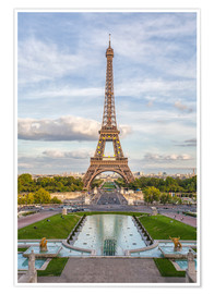 Poster Eiffel Tower and Europe
